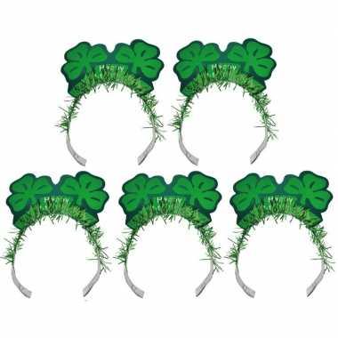5x st. patricks haarbanden