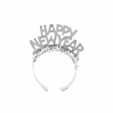 Diadeem happy new year zilver voor volwassenen