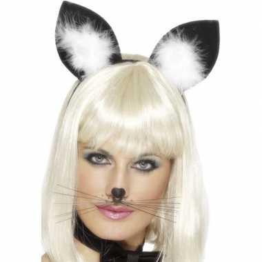 Diadeem met katten poezen oren voor dames