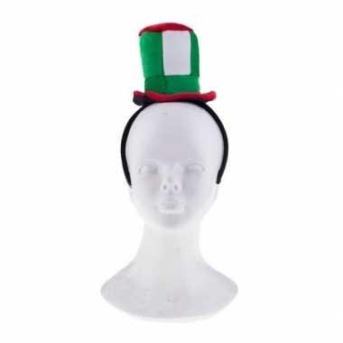 Diadeem met pluche italie hoedje