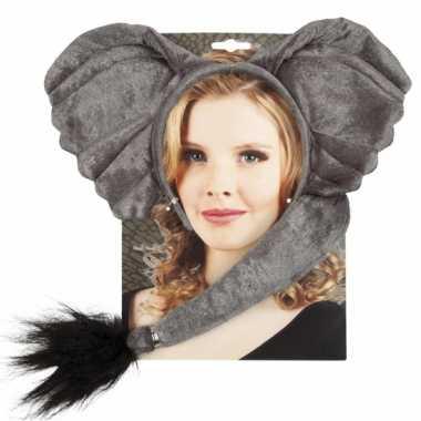Dieren verkleedset elephant