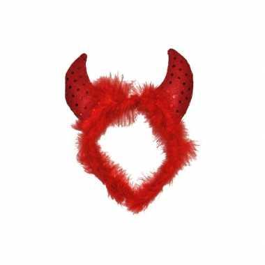 Duivel diadeem rood
