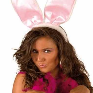 Grote roze bunny oren