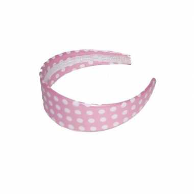 Haarband roze met spikkels