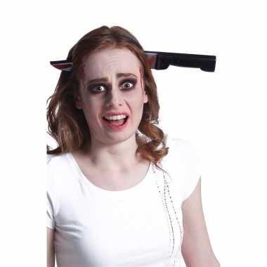 Halloween - bloederig horror mes door het hoofd haarband