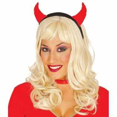 Halloween - diadeem met duivelsoortjes voor dames
