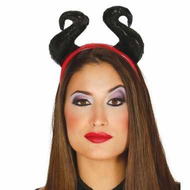 Halloween - diadeem met zachte hoorns voor dames