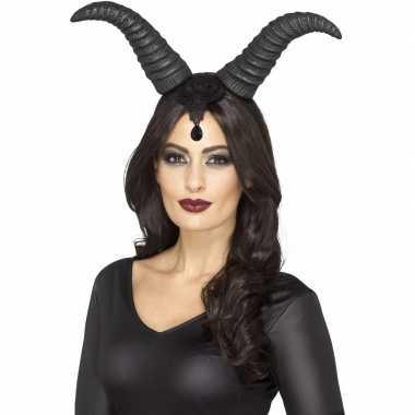 Halloween - haarband met demonische hoorns