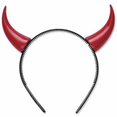 Halloween Rode duivel hoorns op diadeem