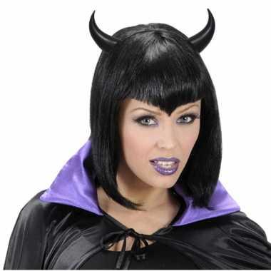 Halloween Zwarte duivel hoorns