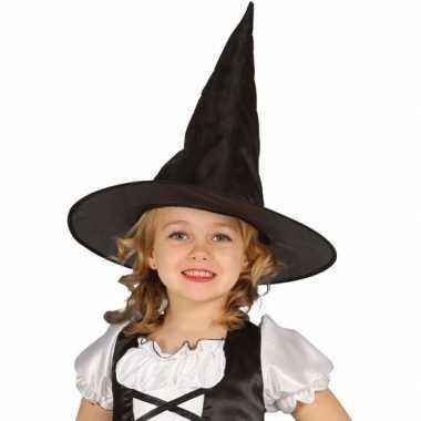 Halloween - zwarte heksenhoed beryl voor meisjes
