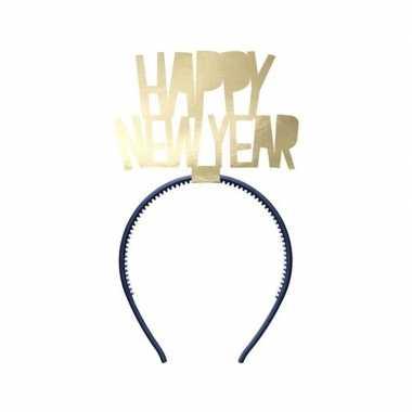 Happy new year diadeem voor dames oud en nieuw/nieuwjaar