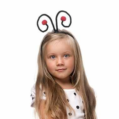 Lieveheersbeestjes diadeem voor kinderen zwart rood