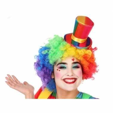 Mini hoge clownshoed verkleed accessoire voor volwassenen