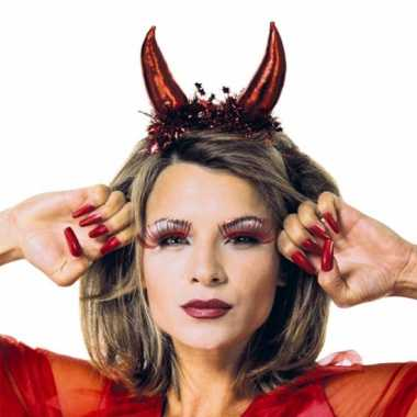 Rode duivel diadeem voor dames