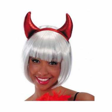 Rode glimmende duivel diadeem voor dames