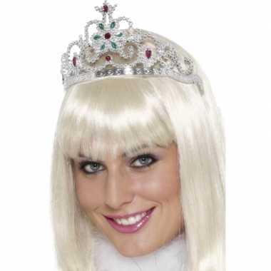 Zilveren prinsessen diadeem