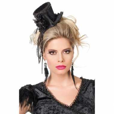 Zwarte mini hoge hoed