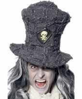 Doden hoed in de kleur grijs