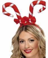 Haarband met kerst zuurstokken