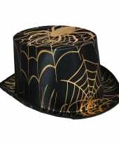 Halloween hoge hoed met spin